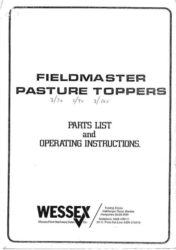 Fieldmaster toppers page 01 - professional groundcare & agricultural equipment