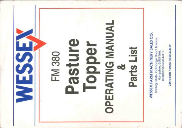 Fm 380 pasture topper page 01 - professional groundcare & agricultural equipment