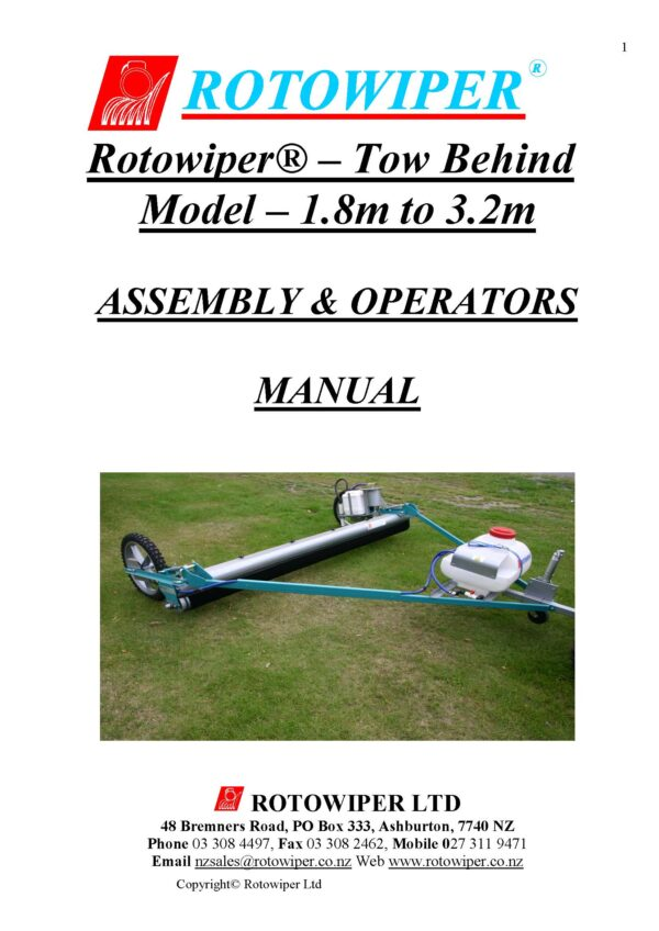 Full nz operators manual 1. 8 to 3. 2 wcf pdf for emailing page 01 - professional groundcare & agricultural equipment