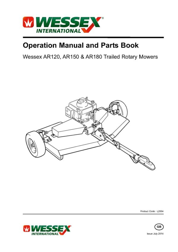 L2004 ar 120 150 180 trailed rotary mower page 01 - professional groundcare & agricultural equipment