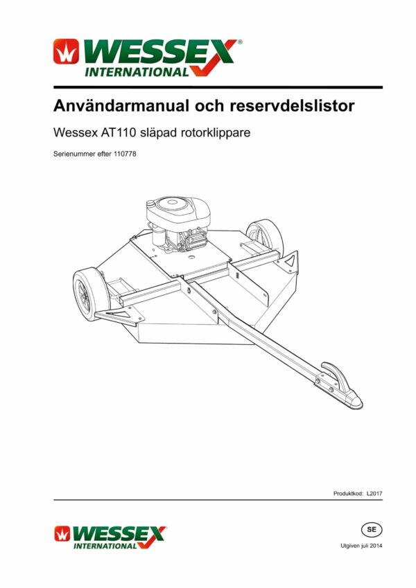 L2017 at 110 trailed rotary mower swedish page 01 scaled - professional groundcare & agricultural equipment