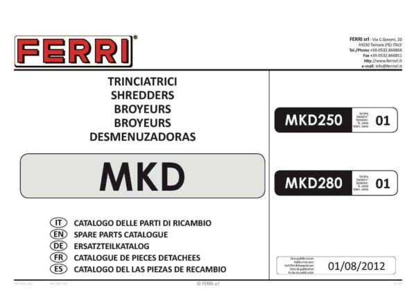 Mkd 250 page 01 - professional groundcare & agricultural equipment