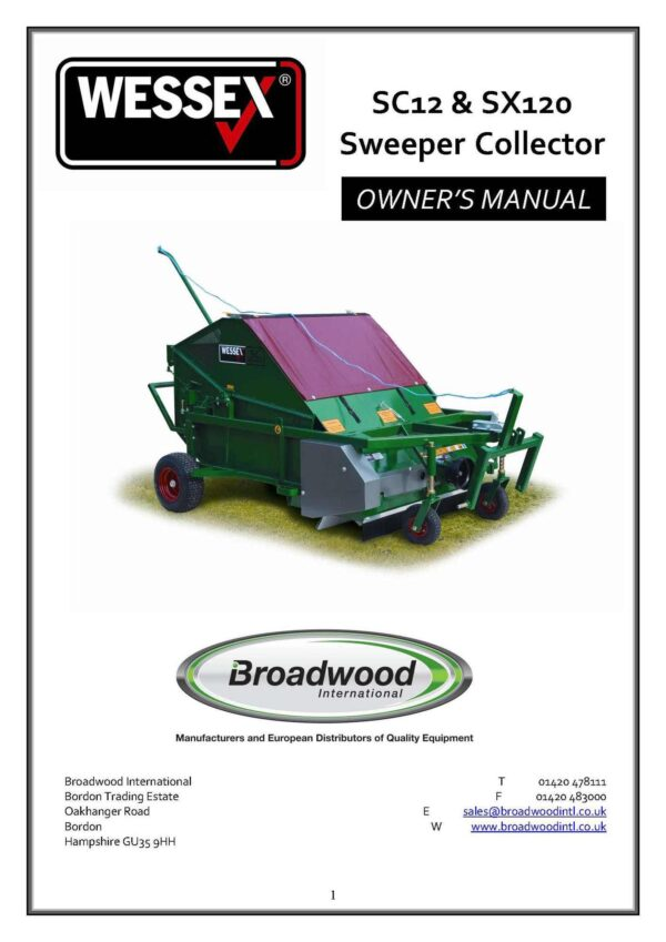 Sc12 and sx120 sweeper collector page 01 - professional groundcare & agricultural equipment