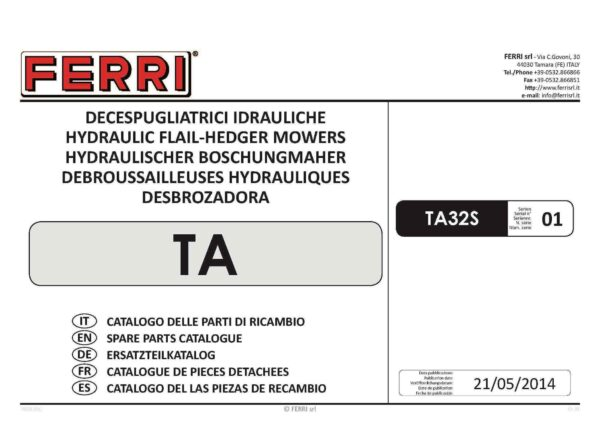 Ta32 spare parts wessex page 01 - professional groundcare & agricultural equipment