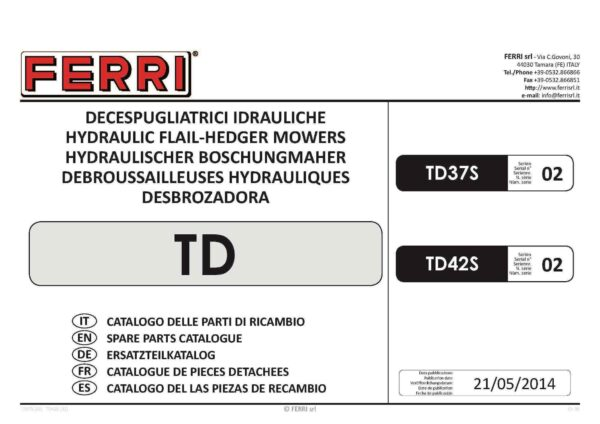 Td37s td42s page 01 - professional groundcare & agricultural equipment
