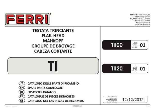 Ti flail head page 01 - professional groundcare & agricultural equipment