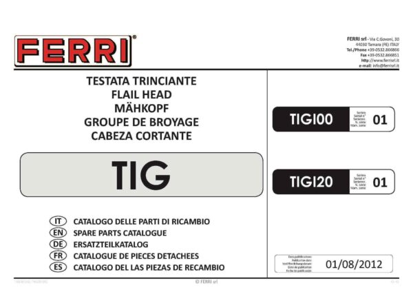 Tig page 01 - professional groundcare & agricultural equipment
