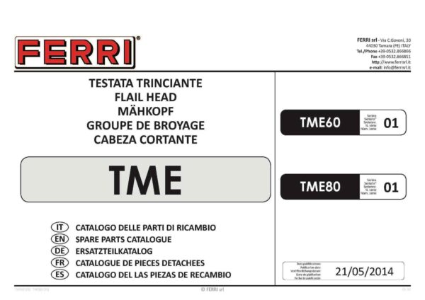 Tme 60 80 s01 page 01 - professional groundcare & agricultural equipment