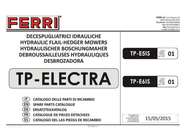Tp electra lh page 01 - professional groundcare & agricultural equipment