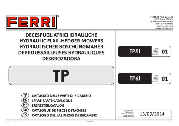 Tp61 series 1 page 01 - professional groundcare & agricultural equipment