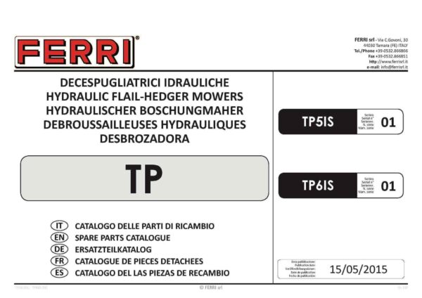 Tp61 series 1 2015 page 01 - professional groundcare & agricultural equipment