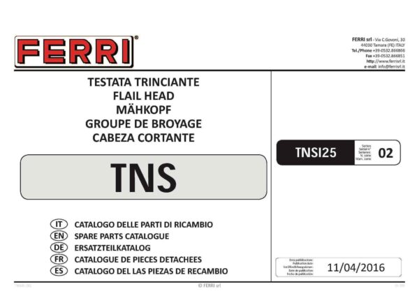 Tns125 s2 page 01 - professional groundcare & agricultural equipment